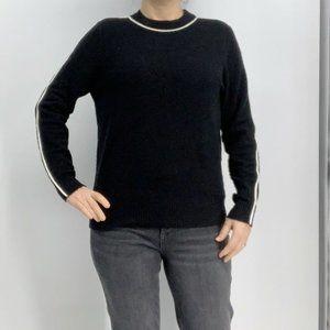 Athleta Black Transit Crew Sweater Size Medium